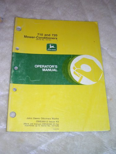 JD 710, 720 Mower-Conditioners Operator�s Manual