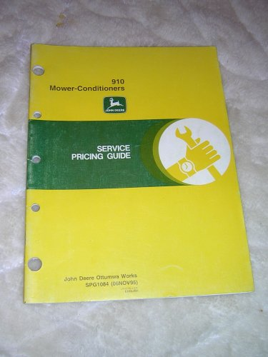 John Deere 910  Mower-Conditioner Service Pricing Guide