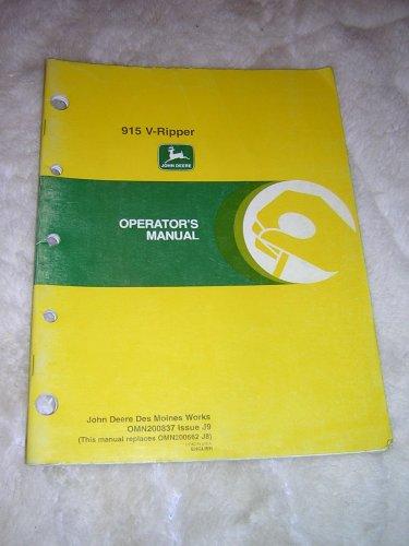 John Deere 915 V-Ripper Operator�s Manual