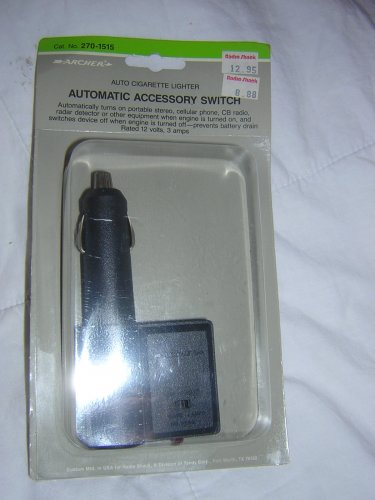 Archer Automatic Accessory Switch For Car Cigarette Lighter, In Package