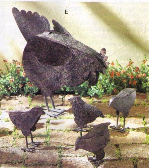 hen with chicks sculpture