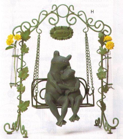 loving frogs on swing