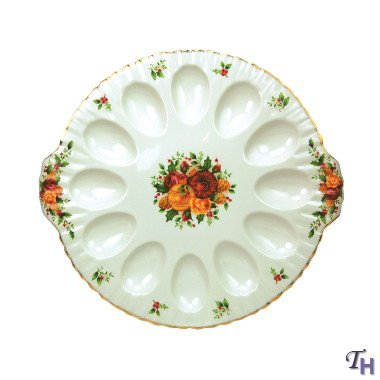 Old Country Roses Holiday Deviled Egg Dish by Royal Albert