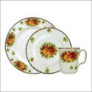 Royal Albert Old Country Roses Holiday Dish, Saucer & Mug Set