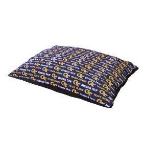 Pet Goods Collegiate Pillow Pet Bed-Georgia Tech-30x24