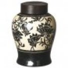 HomArt Mandarin 7 by 10-Inch Porcelain Urn with Lid