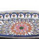 Le Souk Ceramique 16-Inch Large Oval Platter, Tabarka Design