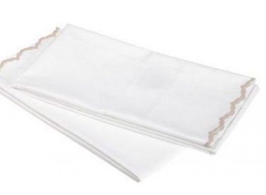 Peacock Alley Calypso Pillowcases 400 Thread Count Percale 2 King Pillow Cases, Linen