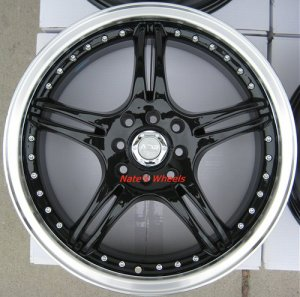 "17"" Black ADR Battle Exe Rims and Nexen N3000 Tires 4 Lug"
