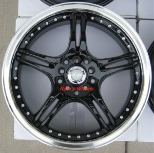 "17"" Black ADR Battle Exe Rims and Nexen N3000 Tires 5 Lug"