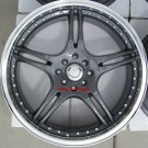 "17"" Gunmetal ADR Battle Exe Rims and Nexen N3000 Tires 4 Lug"