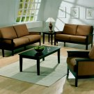 3 pc microfiber living room set sofa, love, chair Value