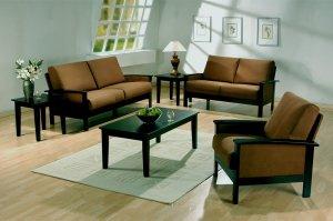 3 pc microfiber living room set sofa, love, chair Value