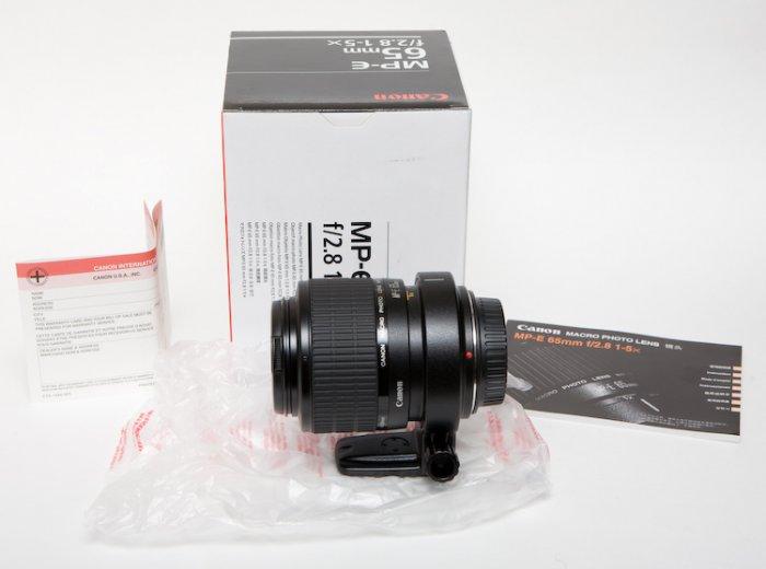 Canon 65mm f/2.8 MP-E 1-5x Macro Lens