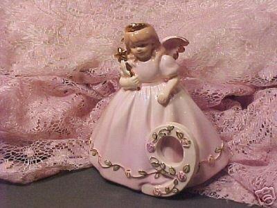No 9 Porcelain Pink Birthday Angel