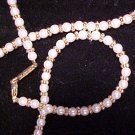 Two Necklaces Napier Faux Pearl & Rhinestone Glitz - Free s/h