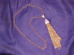 Fringed Disco Era 1970's Necklace