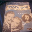 1945 Sheet Music State Fair Rodgers & Hammerstein Movie Star