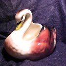 USA Pottery Swan ~ Pink & Black