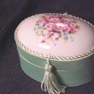 Porcelain & Satin Rose Topped Elegant Box