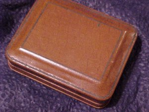 Vtg Kennedy's Leather Look Men's Jewelry Case Box