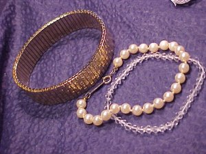3 Costume Bracelets Napier Faux Pearl +