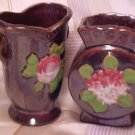 Occupied Japan Set of 2 Warm Primitive Vases