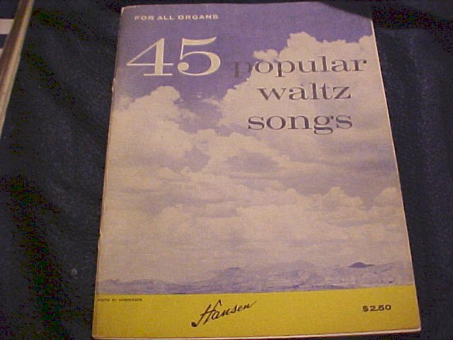 1956 Popular Waltzes Music Book + Operas