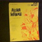 Aloha Hawaii 1960 Sheet Music Song Book