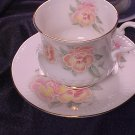Royal Coach Pansy Pansies England Cup & Saucer FREE SHIP
