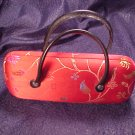 Oriental Satin Jazzy Red Clutch Purse