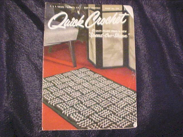 1953 Pattern Designs Quick Crochet : 21 easy to do items