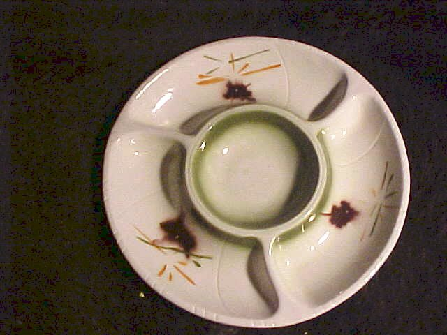 Lane California Pottery Divided Serving Display Bowl