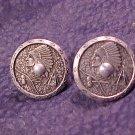 Vintage Indian Chief Screwpost Earrings