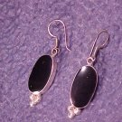 Artisan Onyx & Sterling Silver Classic Pierced Earrings