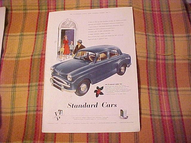 1955 Standard Super Ten Car 14x10 Advertisement