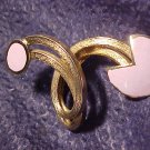 Modernist Pink Swirl Scarf Dress PIN Vintage