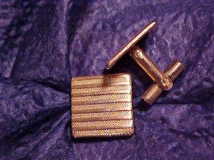 Vintage Gold Tone Cuff Links Cufflink Pair