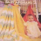 ~ (2) Baby Crochet Design Leaflets  ~ Afghan Sweaters +