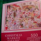 Christmas Market Square 550 Pc Puzzle