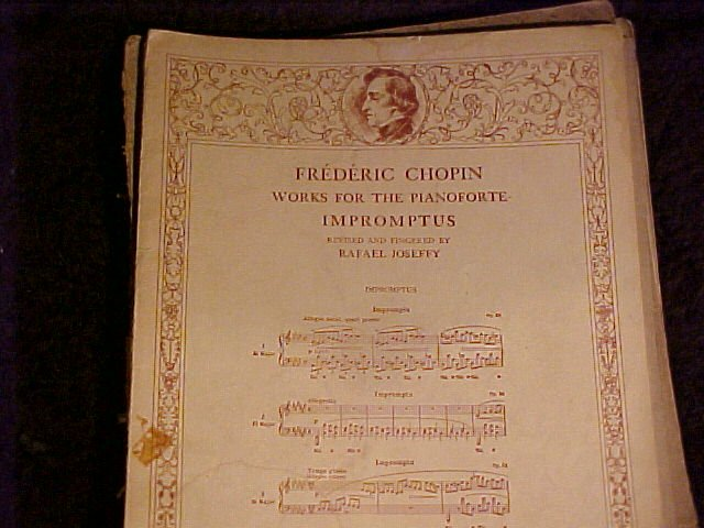 1915 Frederic Chopin Works for The Pianoforte + ~ Sheet Music
