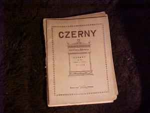 1911 Sheet Music Czerny Op 290 School of Velocity
