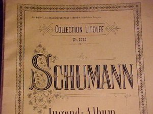 Vtg Sheet Music Schumann - Jugand Album for the Young