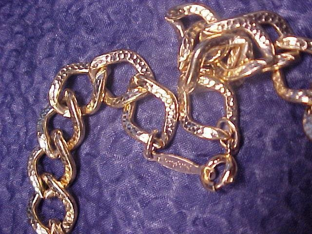 Napier Chunky Costume Gold Tone Link Choker