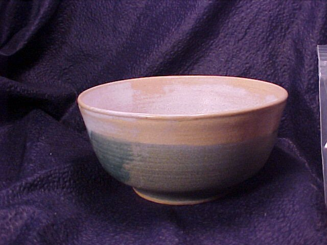 Sea Foam & Teal Art Pottery Display Flower Bowl FREE SHIPPING