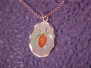 MAINE Blackinton Pewter Pine Cone Pendant