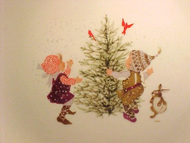 Holly Hobbie 1973 Adorable Christmas Design