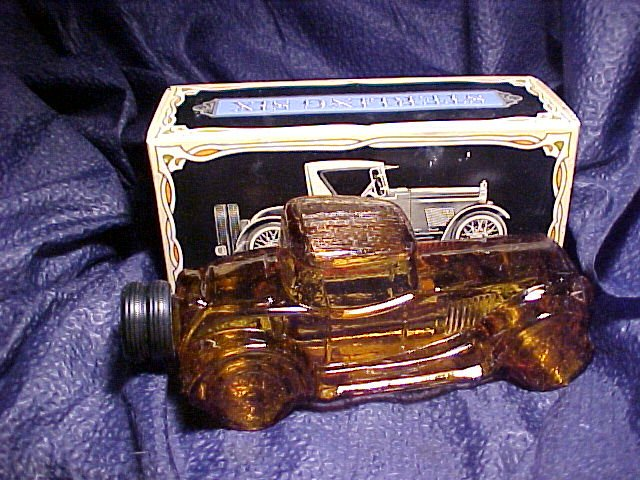 Sterling Six Car Collectable Glass Decanter MIB 7 Oz Cologne