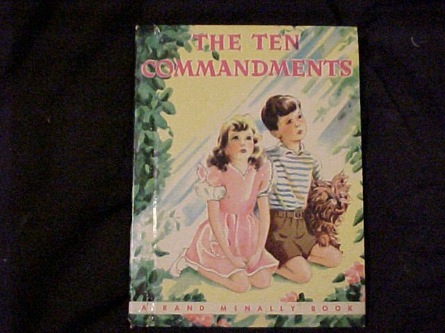 1953 Children's Book The Ten Commandments ~ Free Shipping