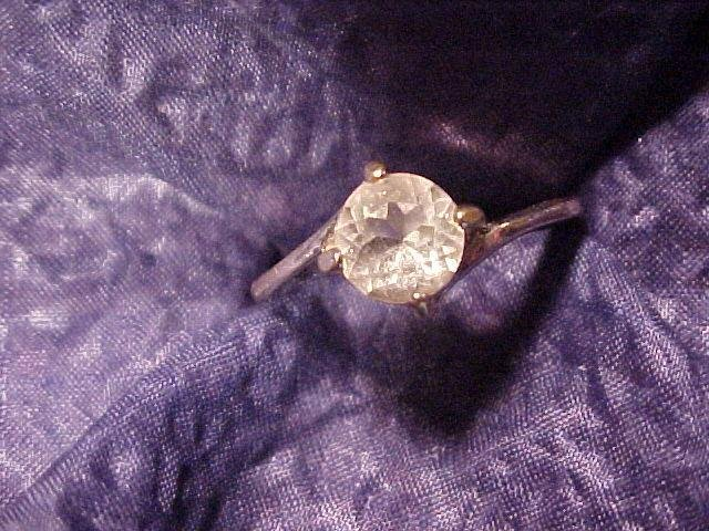 Yellow Citrine? Crystal Vintage Designer Ring